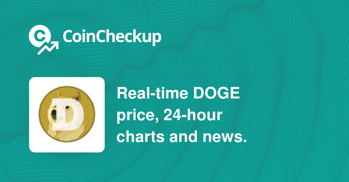 Dogecoin Price Today, Market Cap, DOGE Price Chart ...